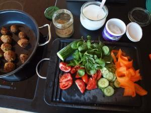 Zutaten für Falafel