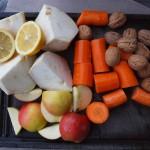 feine Zutaten für den Rohkostsalat